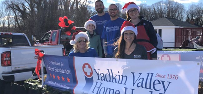 Staff Members Represent Agency at Jonesville-Elkin Christmas Parade