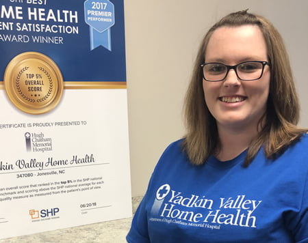 Yadkin Valley Home Health June Employee of the Month