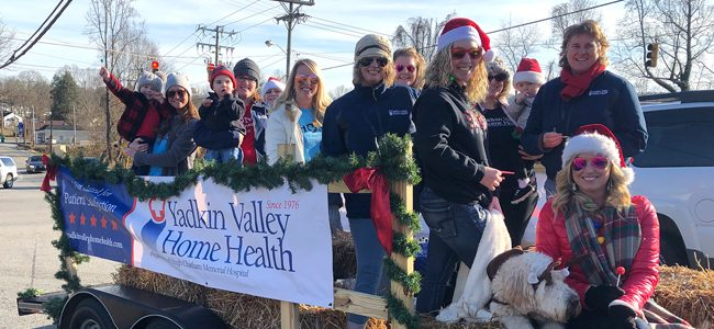 Staff Members Participate in Local Christmas Parade